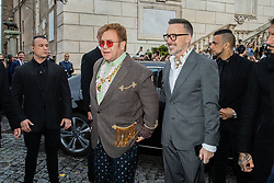 Rome, Gucci Parade at the Capitoline Museums. In the photo: Sir Elton John and her husband David Furnish