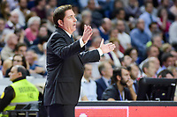 Panathinaikos's coach Xavi Pascual during match of Turkish Airlines Euroleague at Barclaycard Center in Madrid. November 16, Spain. 2016. (ALTERPHOTOS/BorjaB.Hojas)