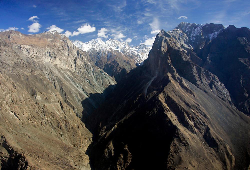 Peaks and valleys of Karokoram Mountains, Skardu Valley, North Pakistan