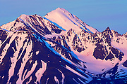 St. Elias Mountains looking at Kluane National Park at sunrise<br />