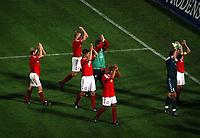 Fotball<br /> Kvalifisering til EM 2004<br /> Bosnia v Danmark<br /> 11.10.2003<br /> Norway Only<br /> Foto: Digitalsport<br /> <br /> Danmark jubler etter å ha sikret seg EM-billett