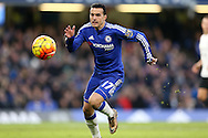 Pedro of Chelsea in action. Barclays Premier league match, Chelsea v Everton at Stamford Bridge in London on Saturday 16th January 2016.<br /> pic by John Patrick Fletcher, Andrew Orchard sports photography.