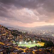 Soccer field in Santo Domingo, Medellin