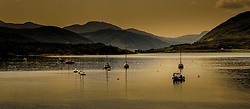 Yachts and small fishing boats moored on Loch Broom at Ullapool, Wester Ross, Scotland<br /> <br /> (c) Andrew Wilson   Edinburgh Elite media