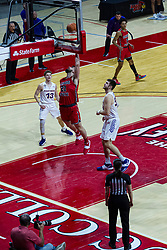 NORMAL, IL - February 27: Dusan Mahorcic gets and open shot during a college basketball game between the ISU Redbirds and the Northern Iowa Panthers on February 27 2021 at Redbird Arena in Normal, IL. (Photo by Alan Look)