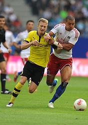 Football: Germany, Liga Total Cup, Hamburger SV - Borussia Dortmund, Hamburg, 04.08.2012.Marco Reus (Dortmund, l.) - Jeffrey Bruma (HSV).©Êpixathlon