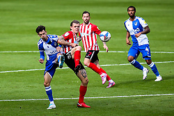 Zain Westbrooke of Bristol Rovers challenges Max Power of Sunderland - Mandatory by-line: Robbie Stephenson/JMP - 12/09/2020 - FOOTBALL - Stadium of Light - Sunderland, England - Sunderland v Bristol Rovers - Sky Bet League One
