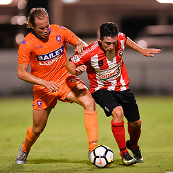 BRISBANE, AUSTRALIA - JANUARY 11:  during the Kappa Silver Boot Group D match between Lions FC and Holland Park Hawks on January 11, 2018 in Brisbane, Australia. (Photo by Patrick Kearney)