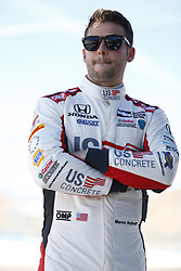 February 9, 2018 - Avondale, Arizona, United States of America - February 09, 2018 - Avondale, Arizona, USA: Marco Andretti (98) looks on while other teams take to the track for the Prix View at ISM Raceway in Avondale, Arizona. (Credit Image: © Justin R. Noe Asp Inc/ASP via ZUMA Wire)