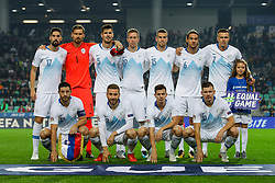 Team Slovenia during football match between National Teams of Slovenia and Cyprus in Final Tournament of UEFA Nations League 2019, on October 16, 2018 in SRC Stozice, Ljubljana, Slovenia. Photo by  Morgan Kristan / Sportida