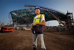Olympic Park Portrait. Portrait of Peter Moore, site supervisor for the construction of the Aquatics Centre. Picture taken on 18 Sep 09 by David Poultney.