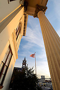 Wilmington's historic Court House is framed by the columns of historic Thalin Hall.  Photo By:  Jeff Janowski