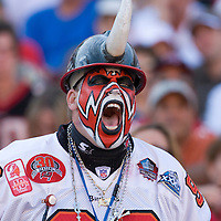 04 november 2007: A Buccaneers fan shouts during the Tampa Bay Buccaneers 17-10 victory against the Arizona Cardinals at the Raymond James Stadium in Tampa, Florida, USA.