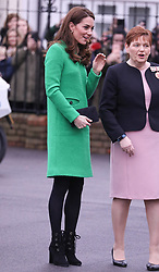 The Duchess of Cambridge visited Lavender Primary School Enfield in London in support of Place2be's Children's Mental Health Week 2019. 05 Feb 2019 Pictured: The Duchess of Cambridge visits the Lavender Primary School Enfield London. Photo credit: ©stephenbutler / MEGA TheMegaAgency.com +1 888 505 6342