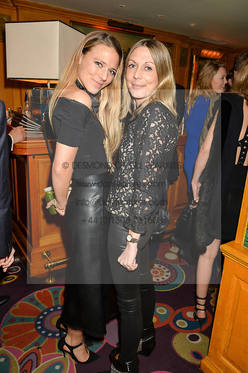 Left to right, SOPHIE MOSS and CAMILLA STOPFORD-SACKVILLE at the 2nd Bright Young Things Back In London party held at Annabel's, 44 Berkeley Square, London on 11th February 2016.
