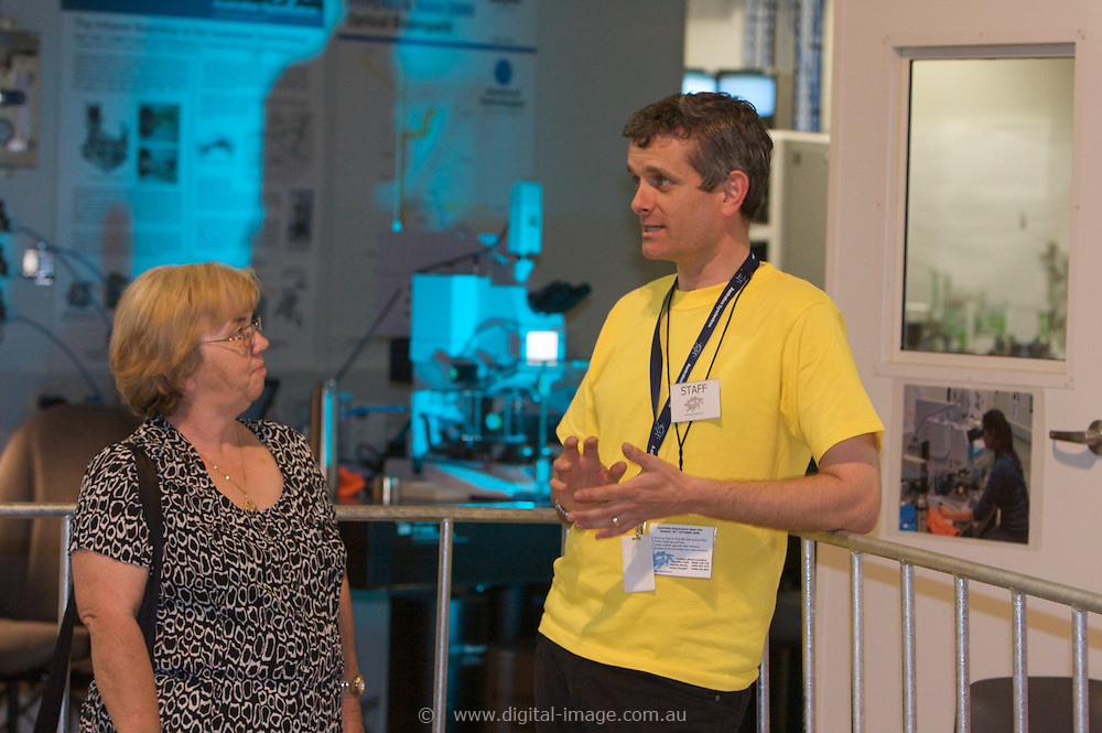 Australian Synchrotron Open Day 2008, Mark Tobin with Terry Myers, Terry's son Chris works at the Synchrotron.