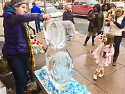 Berks Co., Ice carving festival, Patti Painter,  West Reading, PA