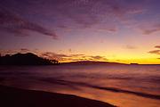 Sunset, Wailea Beach, Maui, Hawaii<br />