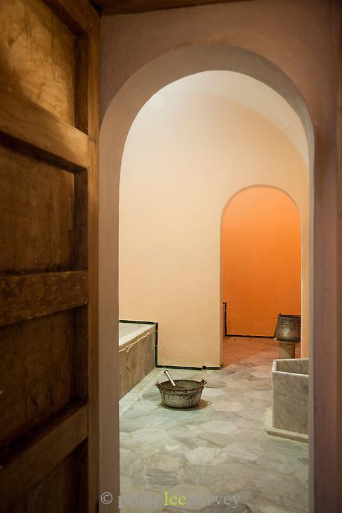 Doorway through to sauna, Sidi Bou Said, Tunisia