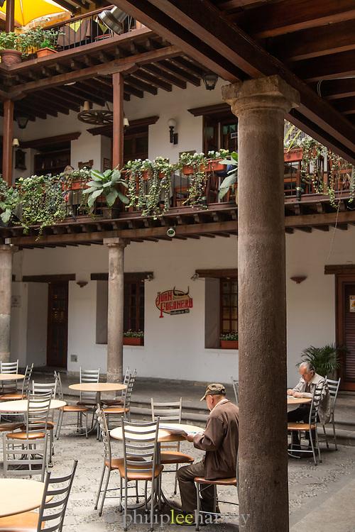 Cafe, Pasaje Arzobispal, Quito, Ecuador, South America
