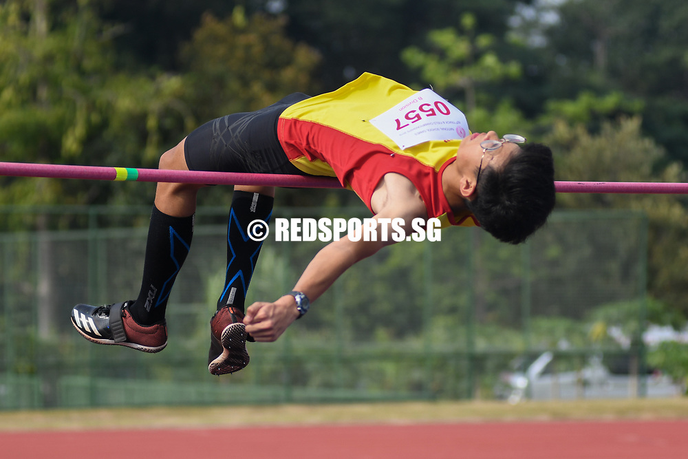Josiah Tan of HCI came in third to win bronze with a final jump of 1.76 metres. (Photo 1 © Stefanus Ian/Red Sports)