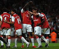 Photo: Tony Oudot.<br /> Arsenal v Sparta Prague. UEFA Champions League Qualifying. 29/08/2007.<br /> Arsenal celebrate Eduardos goal