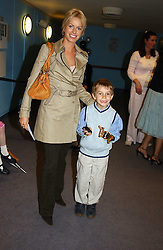 CAROLINE HABIB and her godson GABRIELLE ELMS at a performance by the London Childrens Ballet of 'The Little Princess' at The Peacock Theatre, Portugal Street, London WC2 on 19th May 2005.<br /><br />NON EXCLUSIVE - WORLD RIGHTS