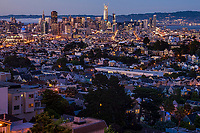 San Francisco Skyline, Evening Transition