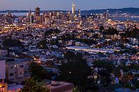 San Francisco Skyline, Evening Transition