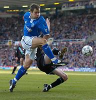 Photo: Richard Lane.<br />Birmingham City v Leicester City. FA Barclaycard Premiership. 13/03/2004.<br />Stephen Clemence fires in a shot.