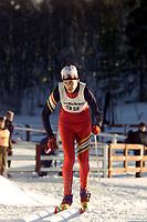 Langrenn, Adidas-cup junior, Ål 2000 klassisk stil. Logan Wilson, British Columbia/Canada. Foto: Digitalsport