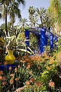 The Majorelle Garden in Marrakech, Morocco
