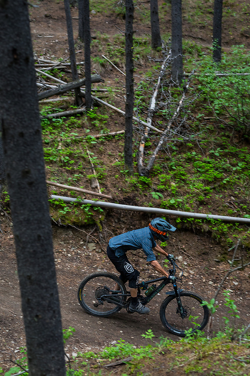 Pete Hoang riding Race of Spades at Moose Mountain in Alberta, Canada