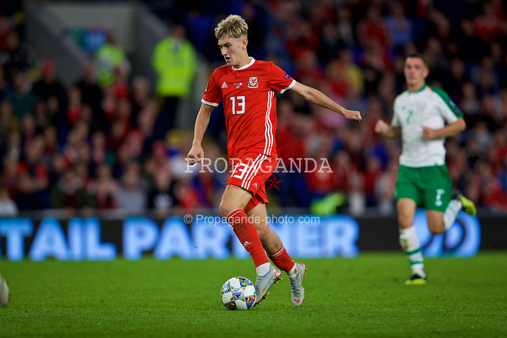 CARDIFF, WALES - Thursday, September 6, 2018: Wales' David Brooks during the UEFA Nations League Group Stage League B Group 4 match between Wales and Republic of Ireland at the Cardiff City Stadium. (Pic by David Rawcliffe/Propaganda)