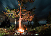 PRICE CHAMBERS / NEWS&GUIDE<br /> A campsite near Sheep Creek in the Bridger Teton National Forest offers a burly fire pit and just the right amount of trees so as not to spoil the view.