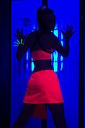 The effects of UV (black light) on reflective clothing - Orange