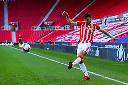 Morgan Fox of Stoke City crosses, leading to a goal by Nick Powell of Stoke City - Mandatory by-line: Nick Browning/JMP - 19/12/2020 - FOOTBALL - Bet365 Stadium - Stoke-on-Trent, England - Stoke City v Blackburn Rovers - Sky Bet Championship