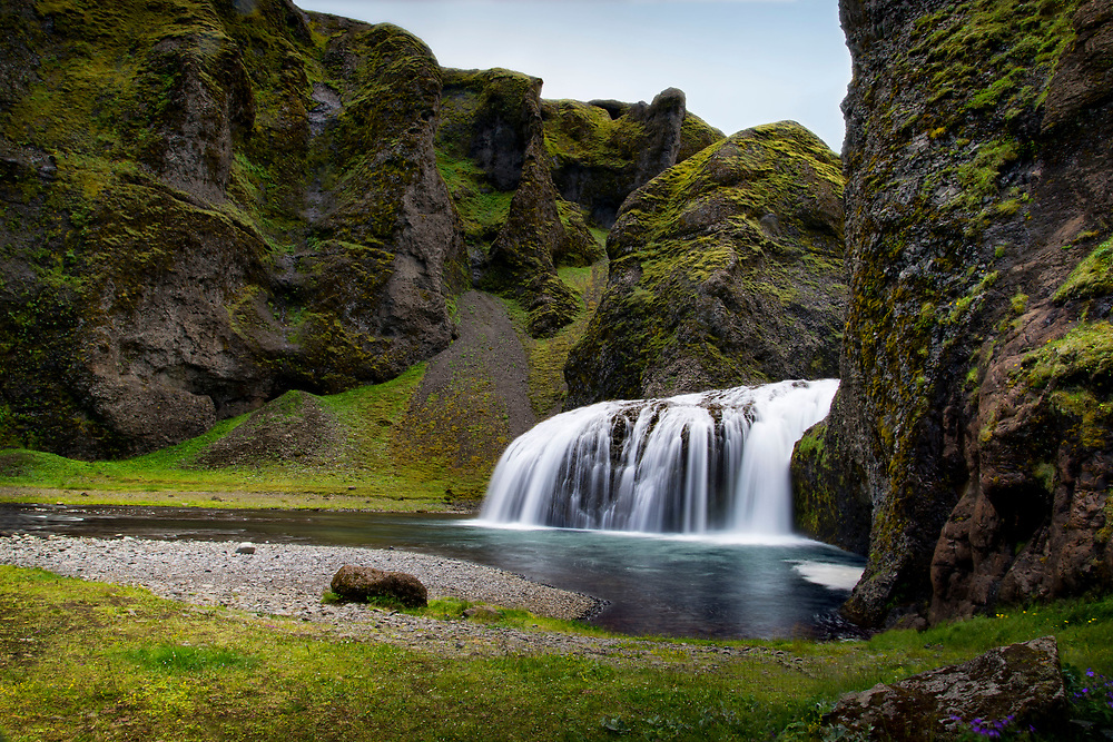Stjornafoss waterfall, in South Iceland