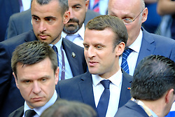 June 5, 2017 - Saint Denis, Seine Saint Denis, France - The French president EMMANUEL MACRON, during the final of the French Rugby Championship Top 14 against Rugby Club Toulonnais at the Stade de France - St Denis France.ASM Clermont beat RC Toulon 22-16 (Credit Image: © Pierre Stevenin via ZUMA Wire)