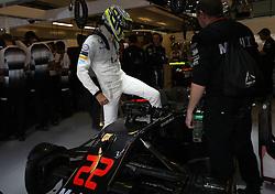 McLaren's Jenson Button before the Abu Dhabi Grand Prix at the Yas Marina Circuit, Abu Dhabi.
