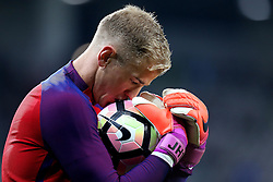 Joe Hart of England kisses the ball during the warm ahead of the World Cup Qualifier against Slovenia - Mandatory by-line: Robbie Stephenson/JMP - 11/10/2016 - FOOTBALL - RSC Stozice - Ljubljana, England - Slovenia v England - World Cup European Qualifier