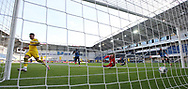 GOAL Tor zum 0:2 durch Jadon SANCHO, BVB, Hintertor, Remote during the Paderborn vs Borussia Dortmund Bundesliga match at Benteler Arena, Paderborn, Germany on 31 May 2020.