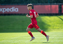 LIVERPOOL, ENGLAND - Wednesday, September 15, 2021: Liverpool's substitute Oakley Cannonier during the UEFA Youth League Group B Matchday 1 game between Liverpool FC Under19's and AC Milan Under 19's at the Liverpool Academy. Liverpool won 1-0. (Pic by David Rawcliffe/Propaganda)