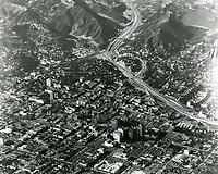 1957 Looking NW at Hollywood and the Cahuenga Pass