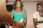 7 July 2010- New York, NY- Venus Williams signs copies of her new book ' Come to Win ' at speaking engagement and book signing held at Girls Scout Headquarters in New York City with Tennis Icon Venus Williams as she begins her promotion of her new book ' Come to Win ' published by HarperCollins on July 7, 2010 in New York City.