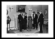 President John F. Kennedy attends a dinner in his honour at Áras an Uachtaráin.<br /> <br /> 28th June 1963