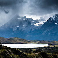 Matt Hunter and Euan Wilson riding in the Torres del Paine park, Patagonia, Chile. In 2017 we pioneered riding on recently opened trails inside and on the edge of this National Park mostly known for trekking.