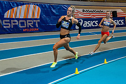 Lieke Klaver, Femke Bol in action on the 400 meter during AA Drink Dutch Athletics Championship Indoor on 21 February 2021 in Apeldoorn.