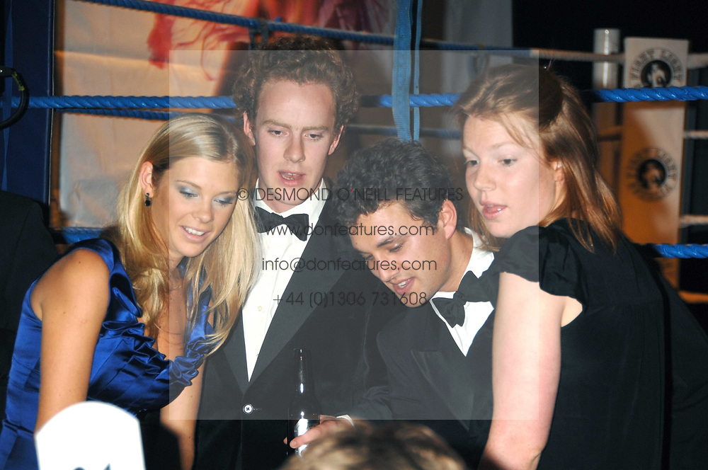 Left to right, CHELSY DAVY, TOM INSKIP, THOMAS VAN STRAUBENZEE and TOR INSKIP   at the 2008 Boodles Boxing Ball in aid of the charity Starlight held at the Royal Lancaster Hotel, London on 7th June 2008.<br /> <br /> NON EXCLUSIVE - WORLD RIGHTS