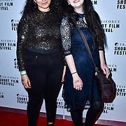 Iman Boujei,Yadida Gaba attend TriForce Short Festival, on 30 November 2019, at BFI Southbank, London, UK.